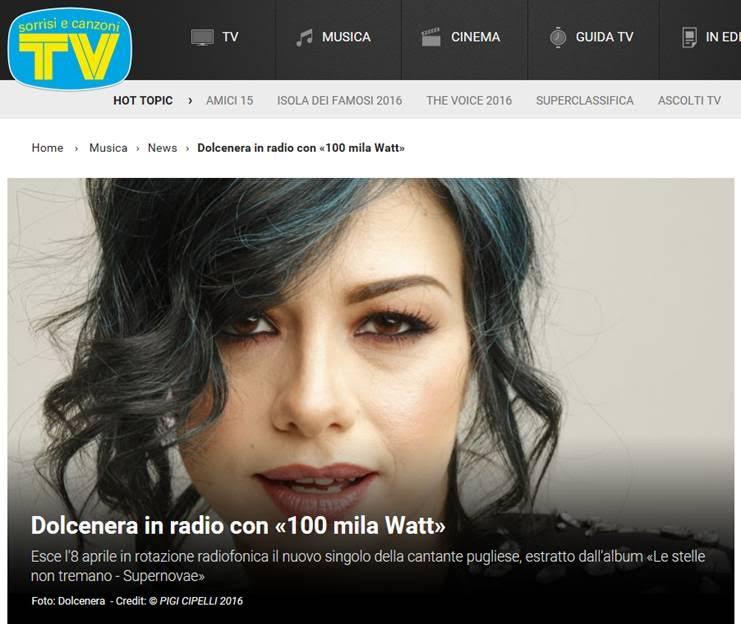 Dolcenera in radio con «100 Mila Watt»
